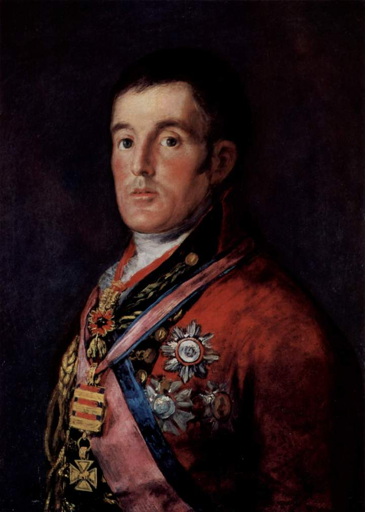 ©Arthur Wellington (Arthur Wellesley, duc de Wellington), par Francisco de Goya, 1812.